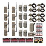 Cuddeback CuddeLink J Series Long Range IR Trail Cameras 8-Pack Deluxe Bundle with Home Receiver, Safes, Locks, Batteries and Cards (55 Items)
