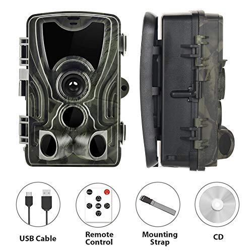 RHG Wildlife Trail Camera, Hunting Trail Camera, Max 16MP 1080P, 0.3S Trigger Time and 36 Pcs 940nm Infared LEDs for Wildlife Monitoring & Home Security&Hunting