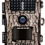 """Foxelli Trail Camera – 12MP 1080P Full HD Wildlife Scouting Hunting Camera with Motion Activated Night Vision, 120° Wide Angle Lens, 42 No Glow IR LEDs and 2.4"""" LCD screen, IP66 Waterproof Game Camera"""