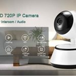 Home Security IP Camera Wireless Smart WiFi Camera WI-FI Audio Record Surveillance Baby Monitor HD Mini CCTV Camera ICSee (Plug Type : UK Plug, Sensor Size : HD 720P)