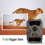 Trail Camera, Infrared Waterproof 1080P Outdoor Hunting Trail Camera High Sensitivity Wildlife Night Vision Hunting Trail Camera
