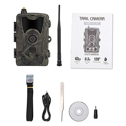 Trail Camera, Infrared Waterproof 3G MMS 1080P HD Hunting Trail Camera High Sensitivity Wildlife Night Vision Hunting Trail Camera