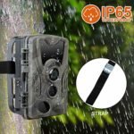 Fugarp Hunting Camera, 20MP HD 1080P Invisible Wildlife Scouting Cam Outdoor Hunting Trail Camera with IR Night Vision