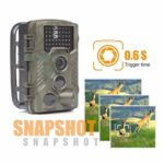 KTYX Game Camera, 16MP 1080P Hunting Wildlife Camera with 3 Infrared Sensors IR LEDs Night Vision0.6S Motion Activated IP67 Waterproof 2.4″ LCD with Hunting Camera