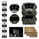 QARYYQ Wildlife Camera H885 HD 1080P Night Vision Scouting Infrared Waterproof Super Fast Trigger Speed Camera Wild Animal Camera
