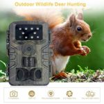 SAMTITY Mini Trail Camera 20MP 1080P HD Game Camera Waterproof Wildlife Scouting Cam with Night Vision, Time Lapse, 0.2S Trigger Speed Motion Activated, IP66 Waterproof Design