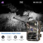 """Tovendor Trail Cameras with 32GB SD Card , 16MP Game Camera No Glow Night Vision Motion Activated Waterproof for Wildlife Monitoring with 2.4"""" LCD 90° Detecting Range"""