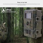YARNOW Trail Camera TC200 12MP 1080P Hunting Game Camera Night Vision Wildlife App Photo Trap Cam for Travel Hiking Hunting