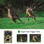 Binchil Hunting Camera 12MP PIR Night Vision Waterproof Trail Game Camera for Home Garden Wildlife Hunting Scouting Game