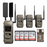 Cuddeback CuddeLink Verizon Wireless 3+1 Trail Camera and Home Receiver Starter Kit with Memory Cards and Focus Card Reader (6 Items)