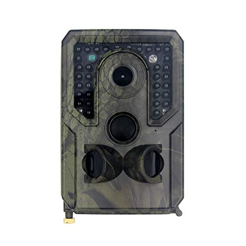 PKKJ Trail Game Camera Hunting Camera, 12MP 1080P HD Waterproof Trail Camera with 120° Wide Angle Motion Activated Night Vision Hunting Cam for Wildlife Hunting Monitoring