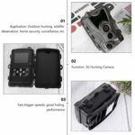 Yardwe Trail Camera Game Hunting Scouting Camera 3G 1080P 0.3s Trigger Time for Wildlife Monitoring Garden Yard Home Security