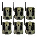 SPYPOINT LINK-DARK 12MP No Glow Invisible Infrared Nationwide 4G LTE Cellular Video Hunting Game Trail Camera with 0.07s Trigger, 100-Foot Detection & LINK App Capability (6 Pack)