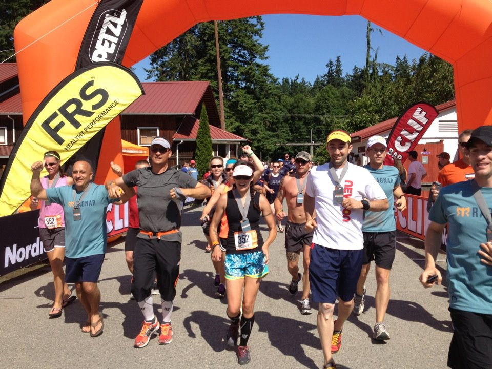 Crossing the finish of the 2012 Ragnar NW Passage with team Ironheart Racing