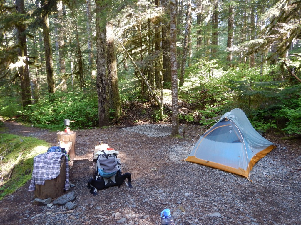 Campsites at Goldmyer are large, comfortable and incredibly private. A fantastic spot to spend a weekend!