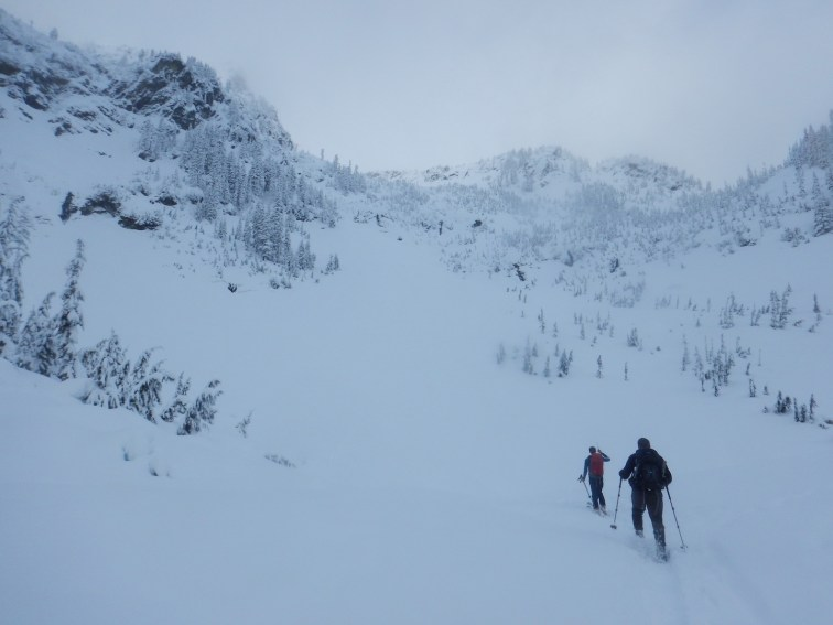 Breaking trail to the Source Lake training location. What a beautiful place to spend the day!