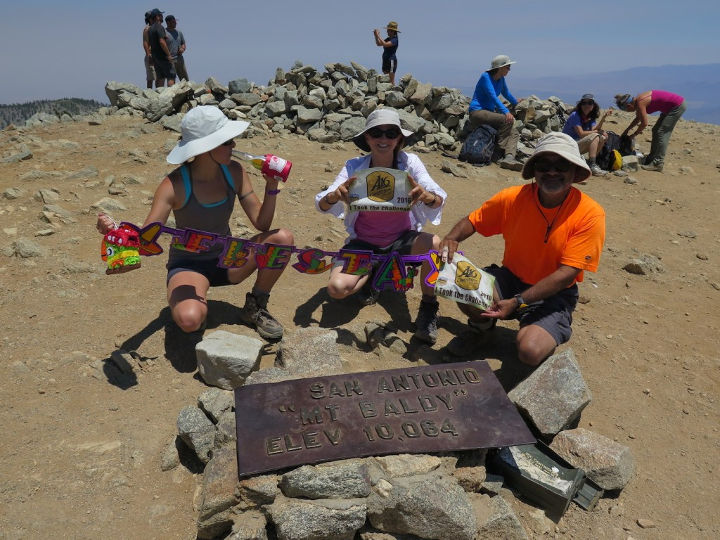Fiesta party on the top of Mount Baldy!!