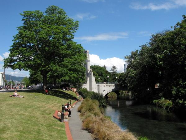 A peaceful Christchurch park among the chaos