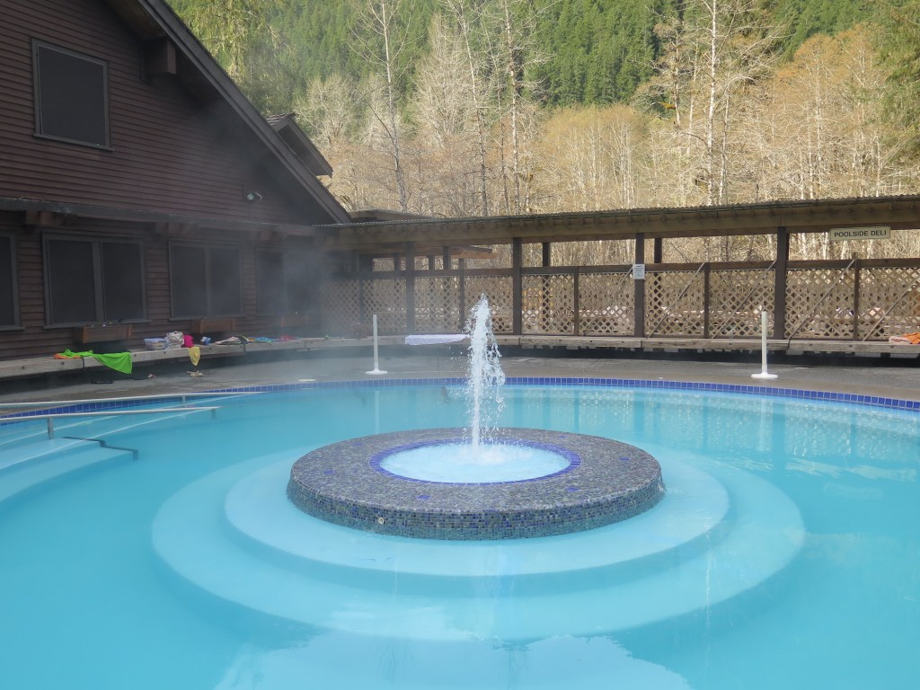 One of the mineral pools at Sol Duc Hot Springs