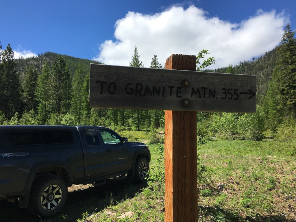 The old Granite Mountain trail.