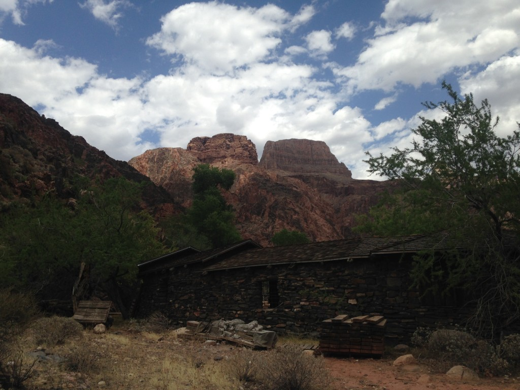 Leaving Phantom Ranch and beginning the tough climb up