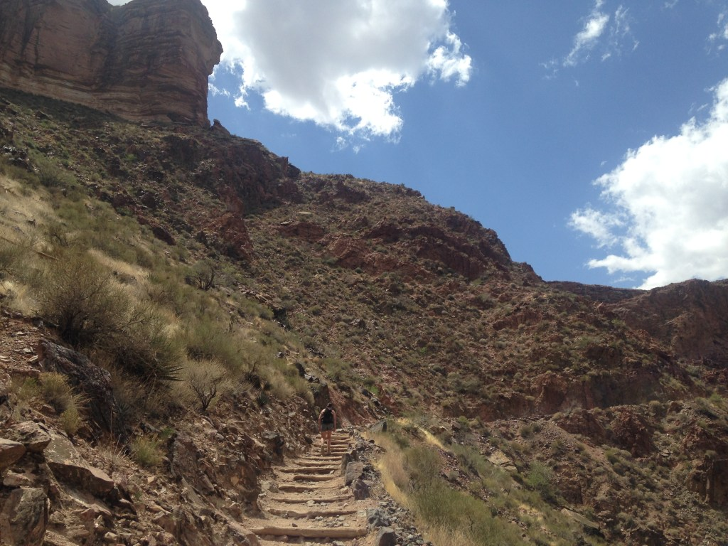 The hot, grueling, never-ending climb up out of the Canyon