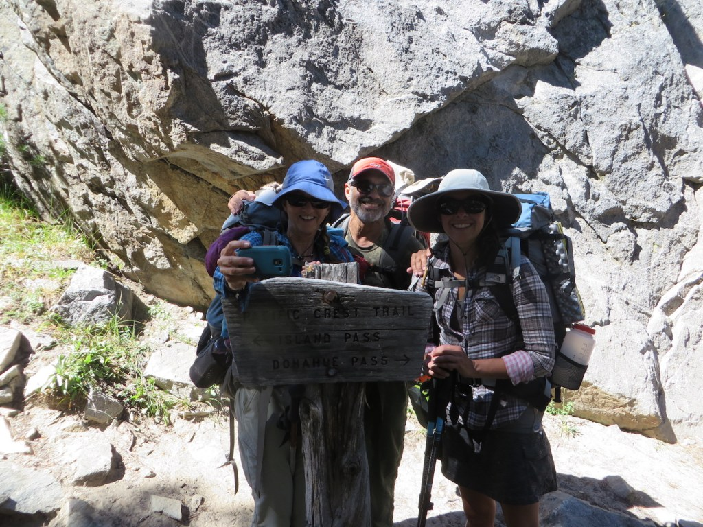 With my folks on the trail when we officially connected with the JMT!