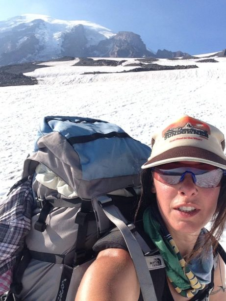 On the way back down, feeling a little charbroiled from the sun and altitude but loving this weekend! Note to self: never wear these stupid lenses again on snow. That is all.