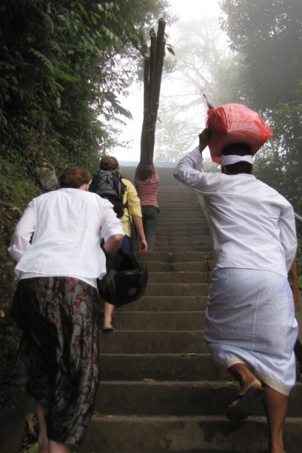 Ascending the temple's 1,000 stairs