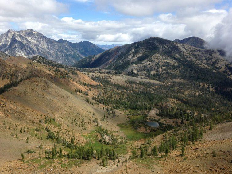 Looking down into the Esmeralda Basin.