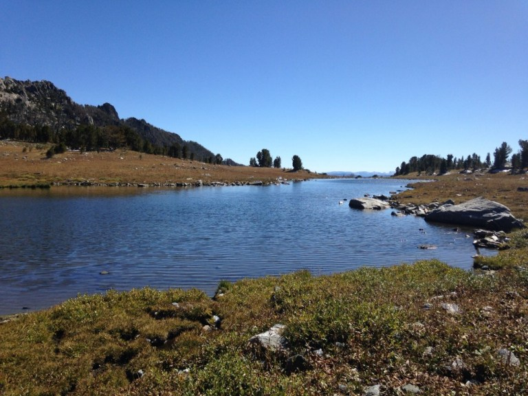 Nature's infinity pool: the alpine lake at the top of Beehive Basin
