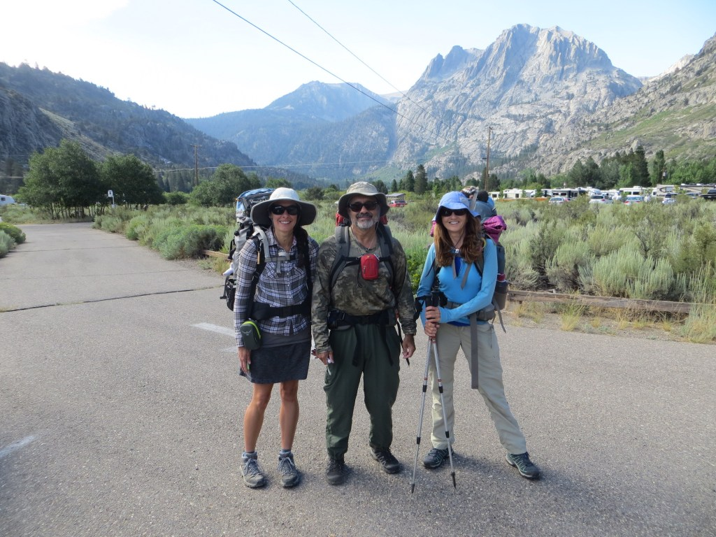All smiles with my dad and stepmom at the Rush Creek Trailhead. Here we go!