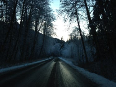 Just a bit icy - not the most fun drive, but made it safely!