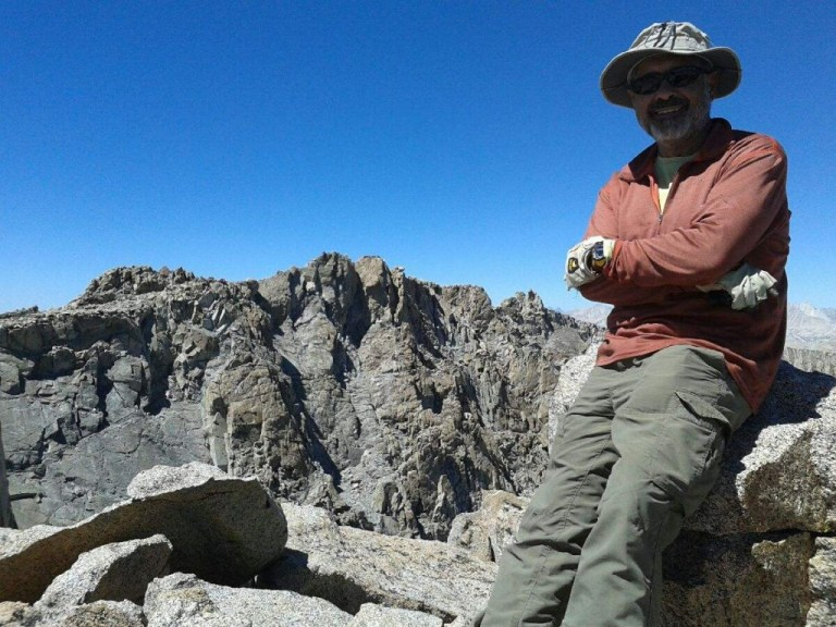 Diana sent me this photo of my dad on the summit of Lamarck before their accident