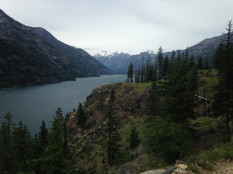 Looking towards the Stehekin Valley on the Lakeshore Trail