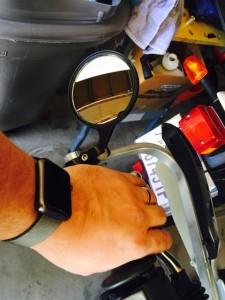 TW200 bikemaster mirrors 0953