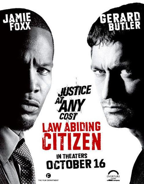 jaime foxx and gerald butler law abiding citizen movie poster