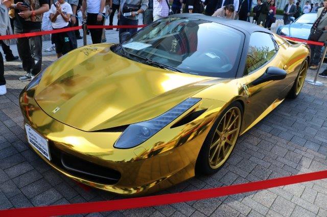 東京モーターショー, tokyo motor show, 金ピカ, gold, super sports, スーパーカー,