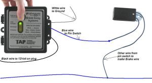 Hopkins TAP Engager Trailer Break Away W LED Brake Battery Switch Charger | eBay