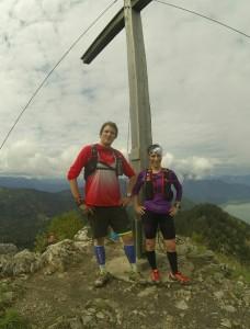 Lars und Sandra beim Gipfeltraining