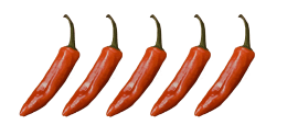 5/5 spicy food rating
