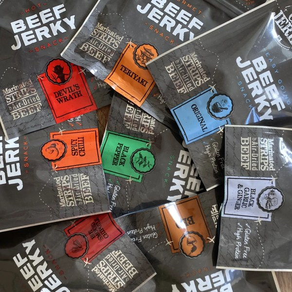 All Beef Jerky Flavours Rainbow