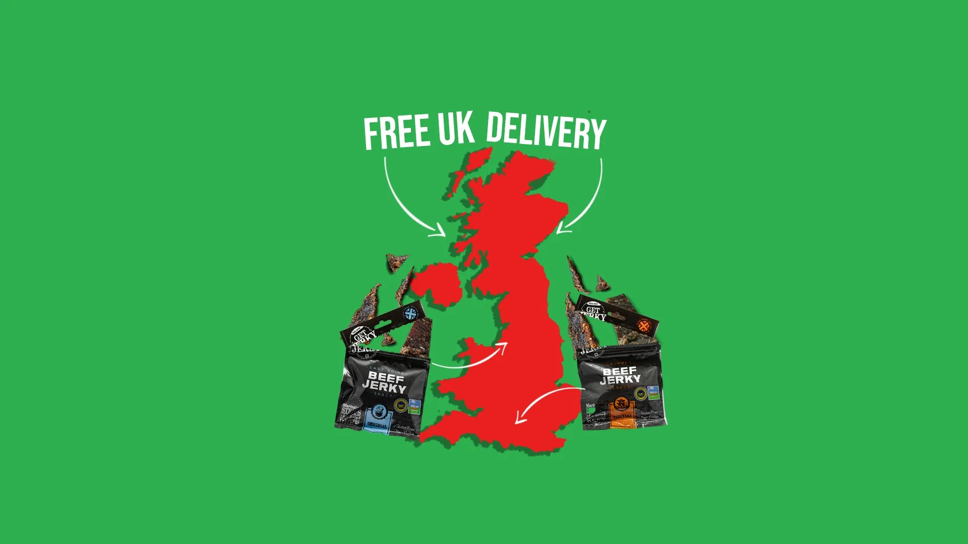 Free delivery on Welsh beef jerky