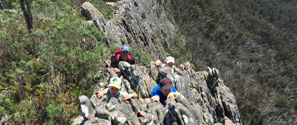 rock scrambling trail hiking australia
