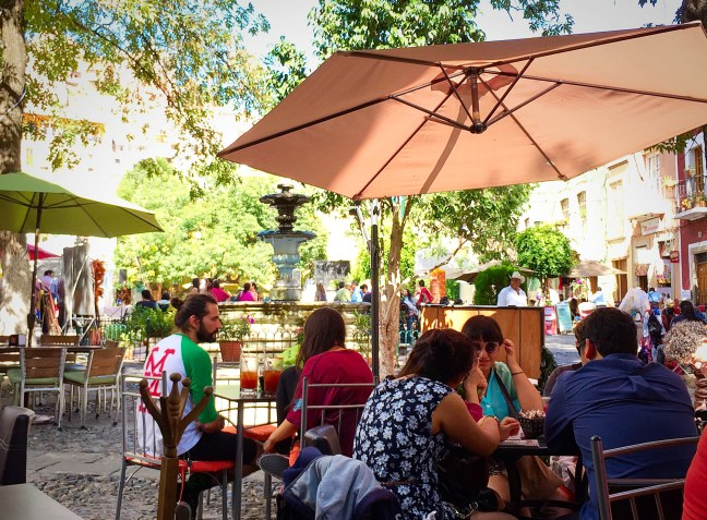Plaza San Fernando - Drinking in Guanajuato