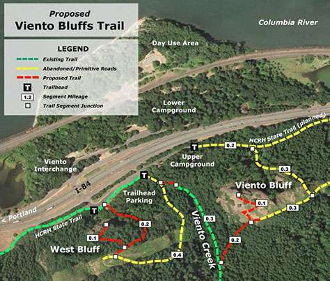 A new network of trails at Viento State Park was among several new trail proposals advocated by TKO that were included in the new Gorge Parks Plan.