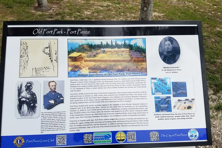 ABOUT FORT PIERCE AND THE SECOND SEMINOLE WAR