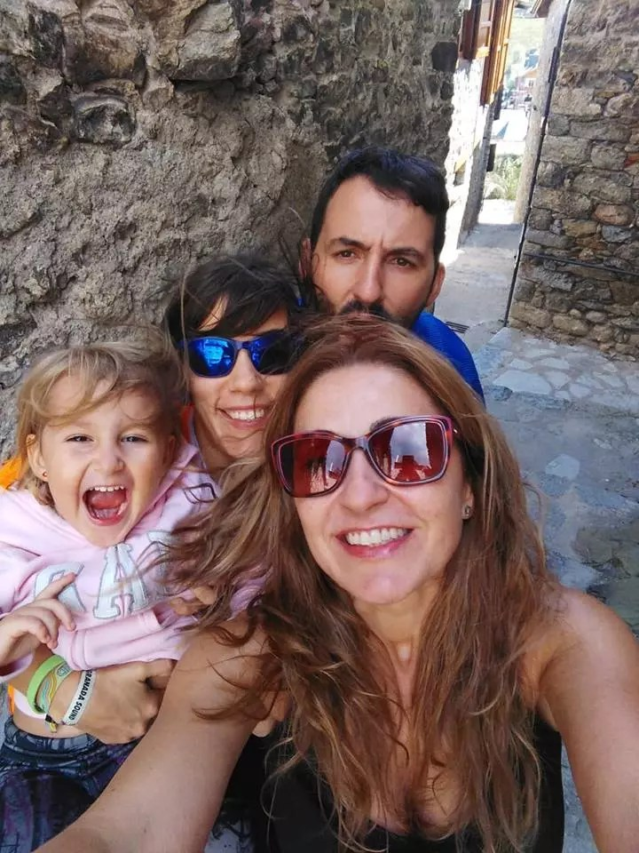 Con la family en Ultra Pirineu 2018
