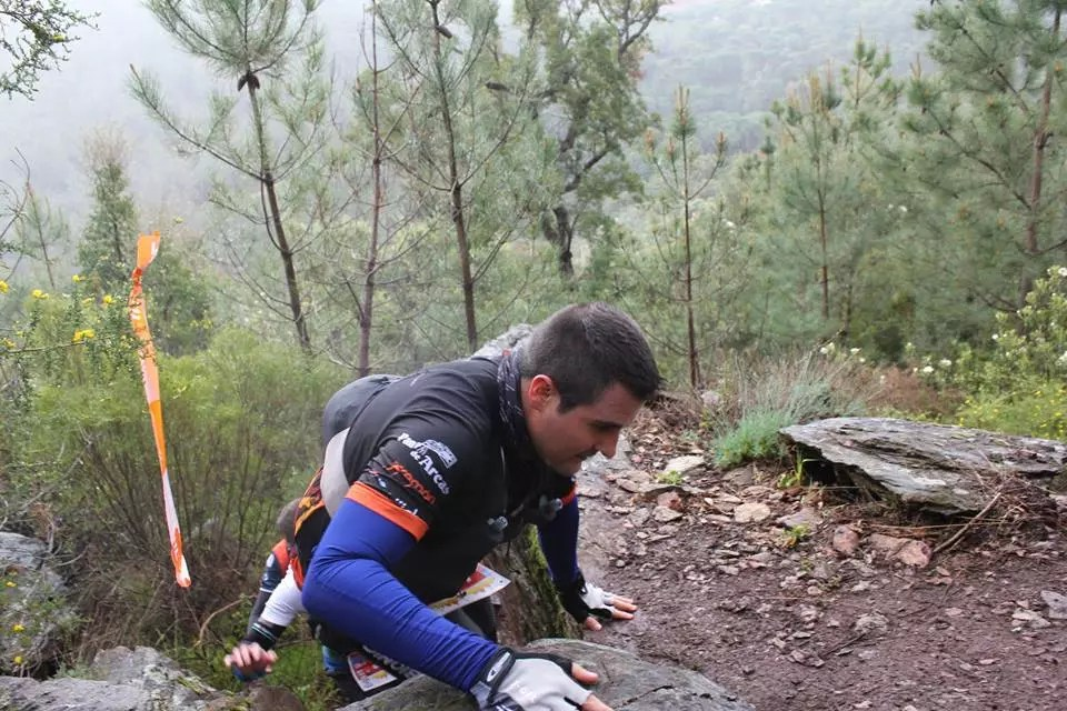 Jorge Le Setilla en el Trail do Texugo