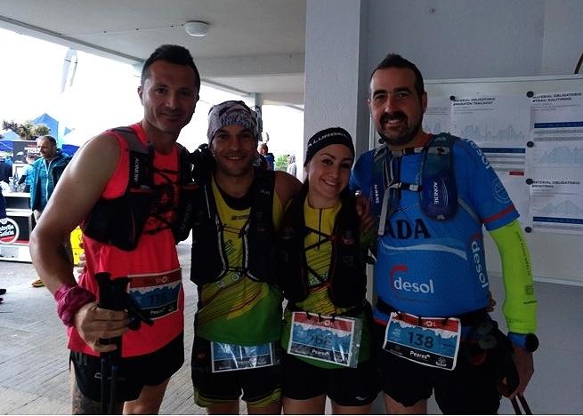 Lupe, Oscar, Feli y Roberheavy en el Trail do Lor